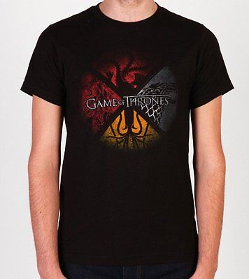 Game Of Thrones HOUSE SIGILS STARK TARGARYEN LANNISTER GREYJOY T-Shirt NWT S-3XL