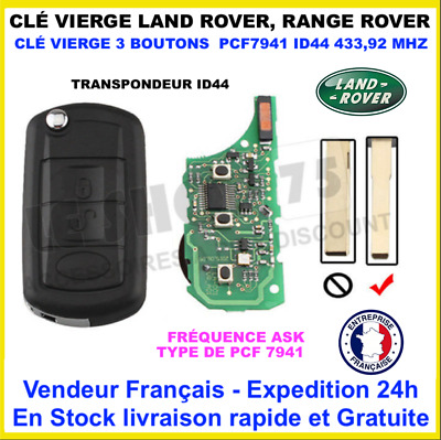 Clé Vierge Range Rover Sport Land Rover LR4 ID44 Complete PCF7941