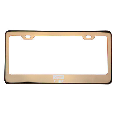 ROSE GOLD LASER Etched Jeep Logo License Plate Frame w/Cap T304 ...