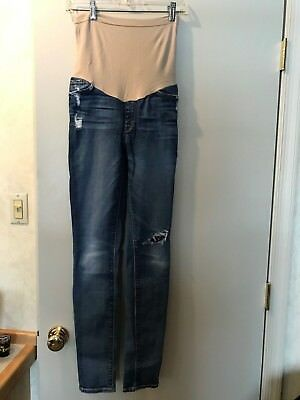 Seven 7 For All Mankind Maternity Distressed Jeans Straight Leg - Size 27