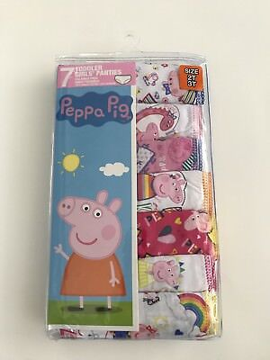 NEW Peppa Pig Toddler Girls Panties Underwear Size 2T-3T Pack Of 7