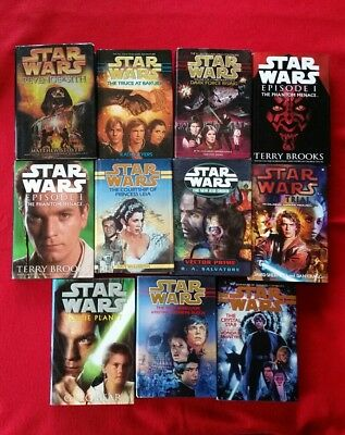 Lot of 11 Star Wars Hardcover Books with dust jackets. First Edition Collectible