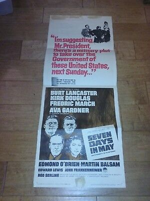 Seven Days in May 1964 Original Movie Film Poster Insert  Rod Serling