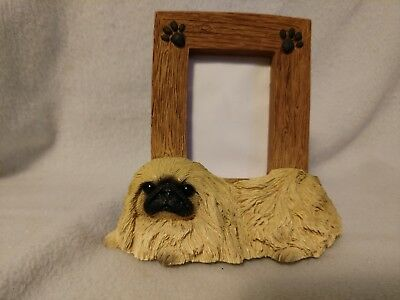 "Pekingese picture frame - holds one 2.5"" x 3.5"" picture"