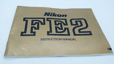 Original Nikon FE2 film camera INSTRUCTION MANUAL