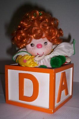 Vintage Porcelain Clown Alphabet Block Music Box