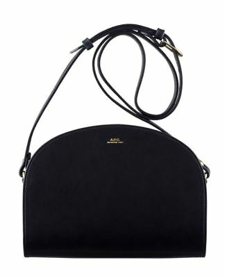 Apc New Genuine Half Moon Demi Lune Leather Crossbody Bag Black Bnwot $470