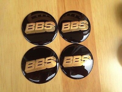 4PCS 65MM Wheel Center Hub Caps Emblem Badge Decal Stickers for BBS Golden 1025