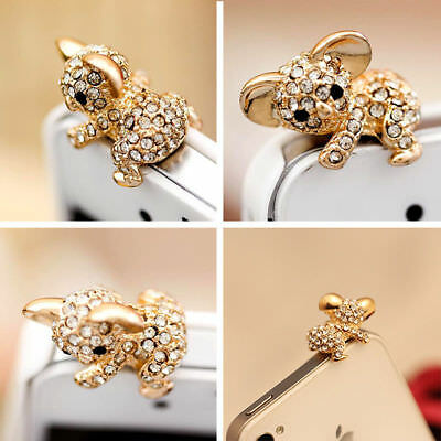 1x Nice Koala Crystal Ear Cap Anti Dust Jack Plug Stopper Cover IPhone Samsung