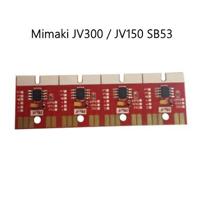Chips Permanent for Mimaki JV300 /JV150 SB53 Ink Cartridge 4 Colors CMYK