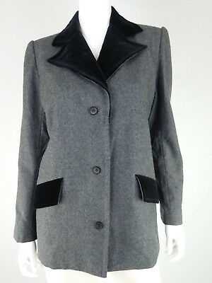 Givenchy Vintage Wool Gray Blazer, Size 42