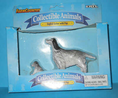 Ertl Farm and Country Collectable Animal English Setter w Puppy New in Box 1998