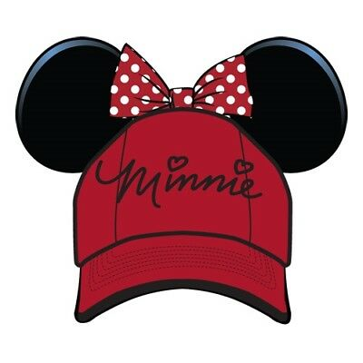 Disney Youth Hat Kids Cap with Minnie Mouse Ears (Minnie Red)