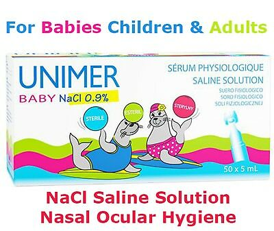 SERUM SALINE DROPS NaCl 0.9% NEBULISER INHALER BABY NOSE EAR EYE LENS WASH SOL