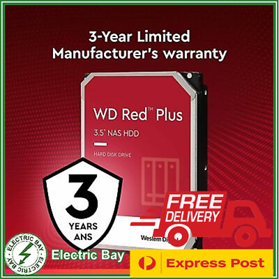 "Western Digital WD Red 10TB 3.5"" SATA Internal NAS Hard Drive HDD 5400RPM 256MB"