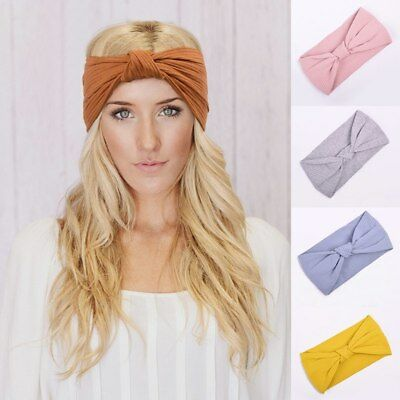 Women Turban Headband Twisted Knotted Girls Hair Accessories Elastic Hair Bands