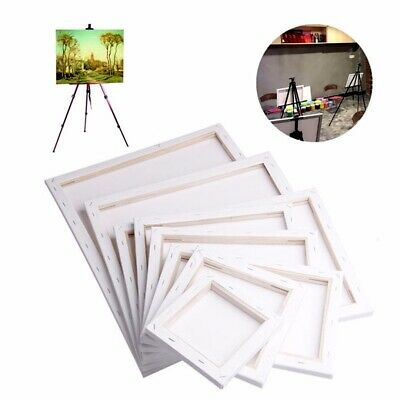 White Blank Square Artist Canvas Wooden Board Frame Primed Oil Acrylic Painting
