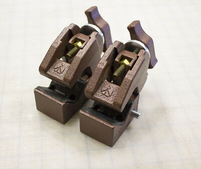Lot of Two (2) Manfrotto Art. 035 Super Clamps Copper color