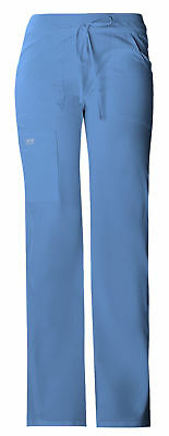 Workwear Core Stretch Women's 24001 Knit Waist Cargo Scrub Pant - Ceil Blue