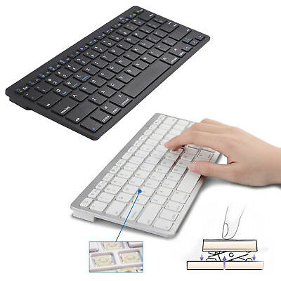 Ultra Slim Bluetooth Wireless Keyboard For Laptop/iPad/IOS/Android Cellphone/Mac
