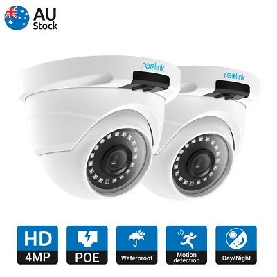 2PC HD 4MP POE IP Security Camera IR Night Vision Outdoor Dome Reolink RLC-420