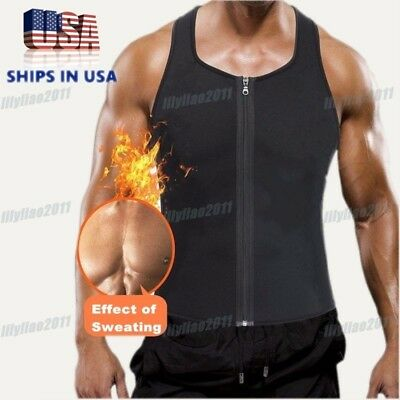 Men Waist Trainer Vest for Weight Loss Sauna Hot Neoprene Body Shaper Tank Top