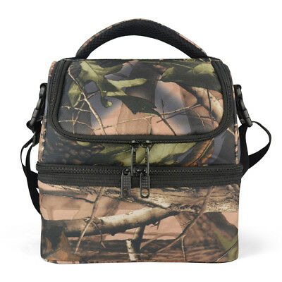 Eaglemate 12L Dual Compartment Insulated Lunch Bag Cooler Bag School Picnic Work