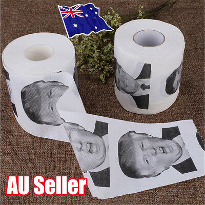 Donald Trump Humour Toilet Paper Roll Novelty Funny Gag Gift Dump with Trump BK