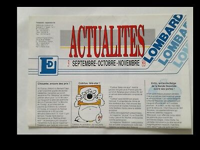 ACTUALITES (settembre 1989 - in francese)