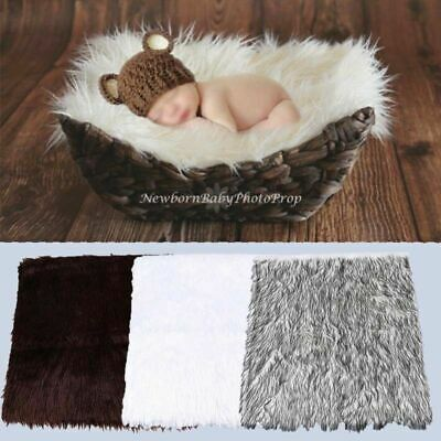 3-Color Newborn Baby Photography Props Rug Soft Photo Backdrops Infant Blanket