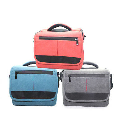 UK Canvas Waterproof SLR Camera Messenger Travel Bag for Canon 700D Nikon Sony