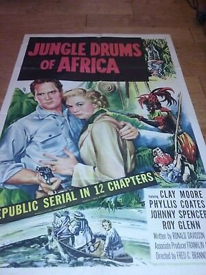 Jungle Drums of Africa (1952) Original Movie Film Poster 1 Sheet Clayton Moore