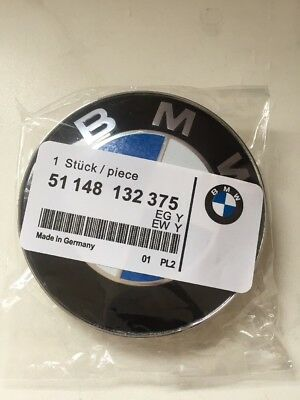 Bmw Boot Amp Bonnet Badge Pair 82mm Amp 74mm Black Amp White Emblem Logo 1 3 4 5 Series Eur 19 15