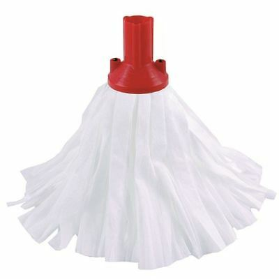 Red Exel Big White Mop Head Pack of 10 102199RD [CNT02137]