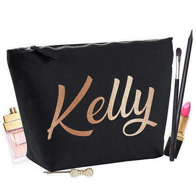 Personalised Any Name Text Custom Printed Cosmetics Toiletries Make Up Bag Case