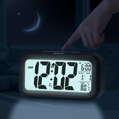 Extra Large LED Display Smart Digital Electric Alarm Clock with Battery Back up