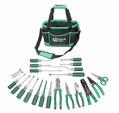 Commercial Electric 22-Piece Electrician's Tool Set with Case Heavy Duty Durable