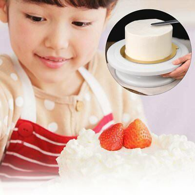 AU 27CM Round Cake Stand Turntable Rotating Cake Decorating Turntable OK