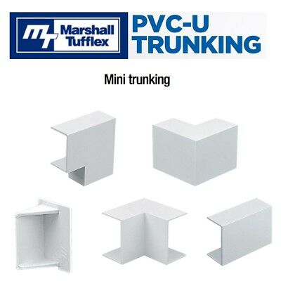 All Sizes PVC Mini Cable Trunking Shapes Connectors Accessories Marshall Tufflex