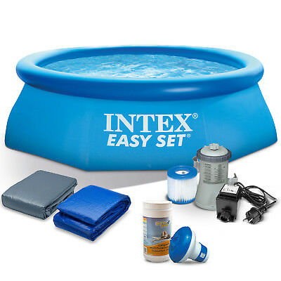 7in1 Set Gartenpool Becken 244 x 76 cm Quick Up Pool mit Zubehör INTEX 28110