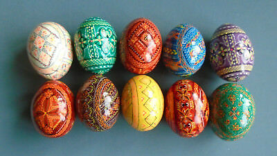 10 Painted Wooden Ukrainian Pysanka / Easter eggs / Pysanky #1