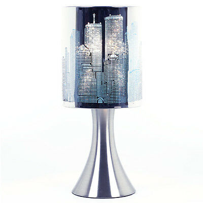 Lamp New York Pink Lampe Chevet Touch Ny Touch Deco Intensity