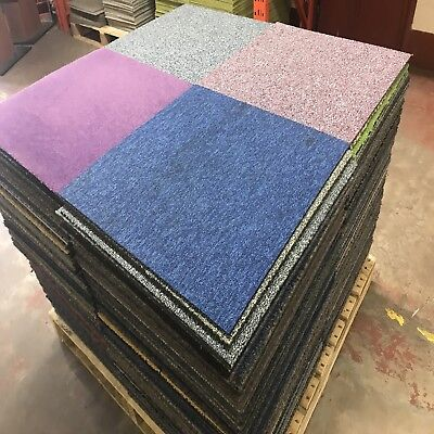 Patchwork Carpet Tiles. Ideal For Garages, Sheds, Warehouse ETC. Free Delivery.