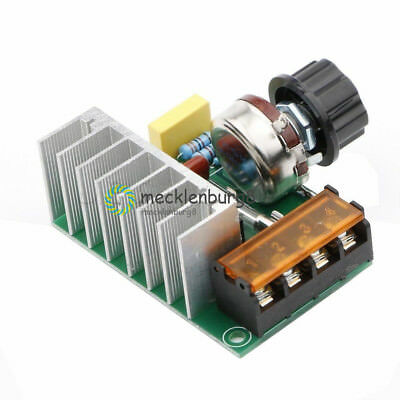 4000W AC 220V SCR Voltage Regulator Speed Controller Dimmer Thermostat