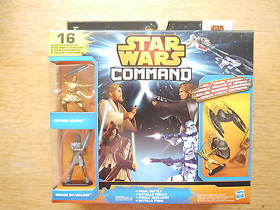 Star Wars Command Final Battle Skywalker Obi-Wan 4 Jedi Ritter etc Hasbro boxed!