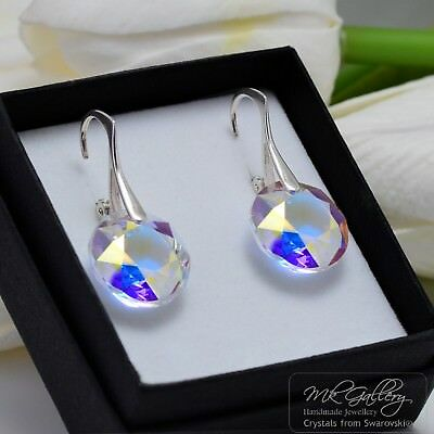 925 Silver Earrings Crystals From Swarovski® Classic Cut - Crystal Ab