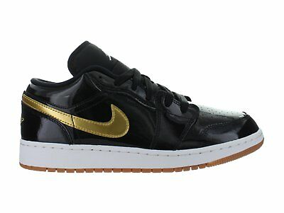 Air Jordan 1 Retro Low GS Gold And Gum Pack Black Gold White Brown 554723-032