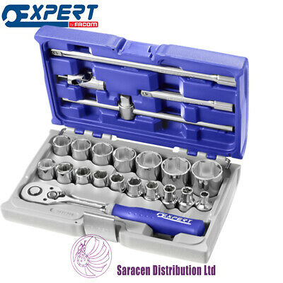 """Expert By Facom 1/2"""" Socket And Accessory Set - Metric - 22 Pieces - E032900"""