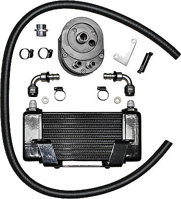 Jagg Oil Coolers 750-2400 Horizontal 10 Row Oil Cooler Black Low Mount 0713-0118