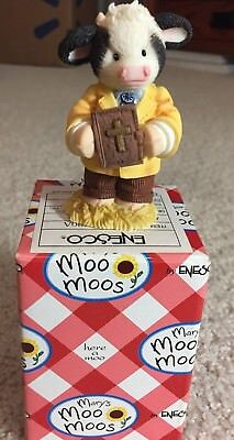 Mary's Moo Moos Peace Be With Moo Mantle Preacher Figurine 372420A